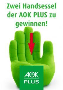 Zwei Handsessel der AOK Plus gewinnen!