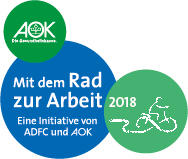 AOK-Mitmachaktion in Kooperation mit dem ADFC Mit dem Rad zur Arbeit