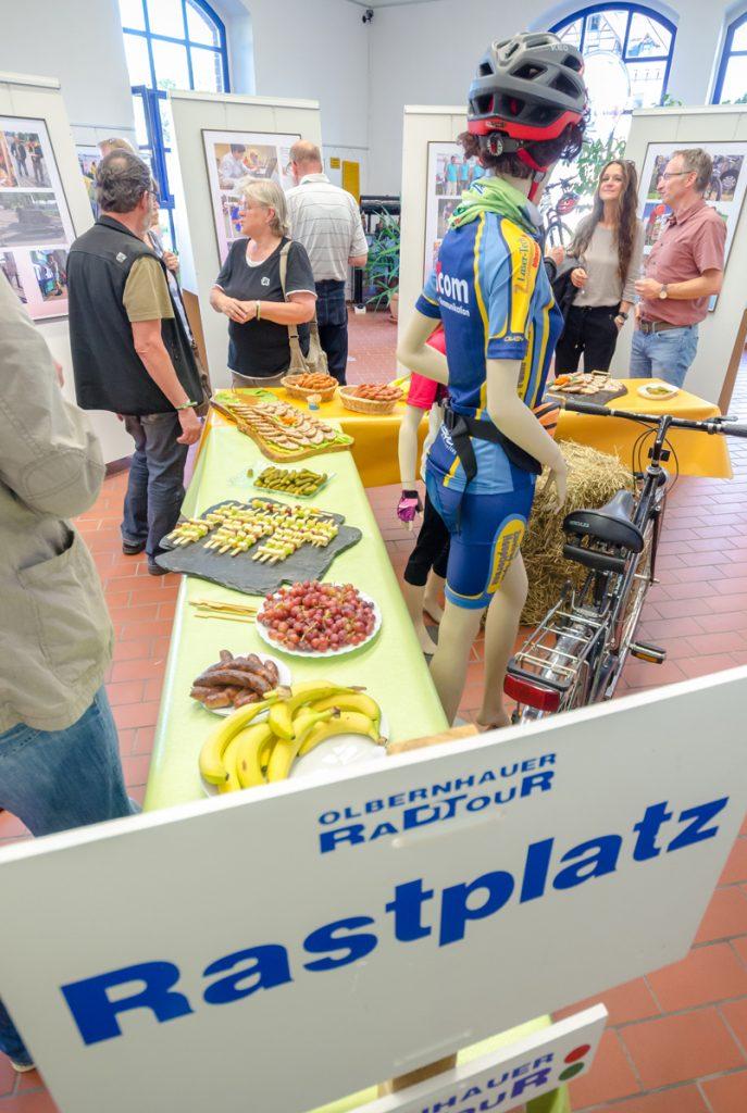Ausstellung 25 Jahre Olbernhauer Radtour - Rastplatz