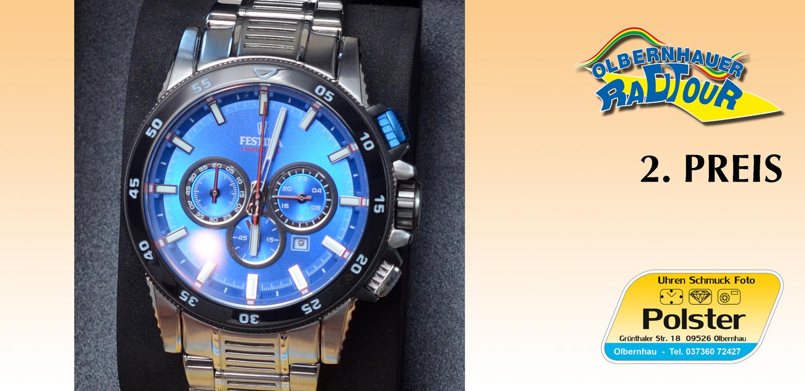 3. Tombolarpreis: Festina Armbanduhr (gestiftet durch Uhren Schmuck Foto Polster Olbernhau)
