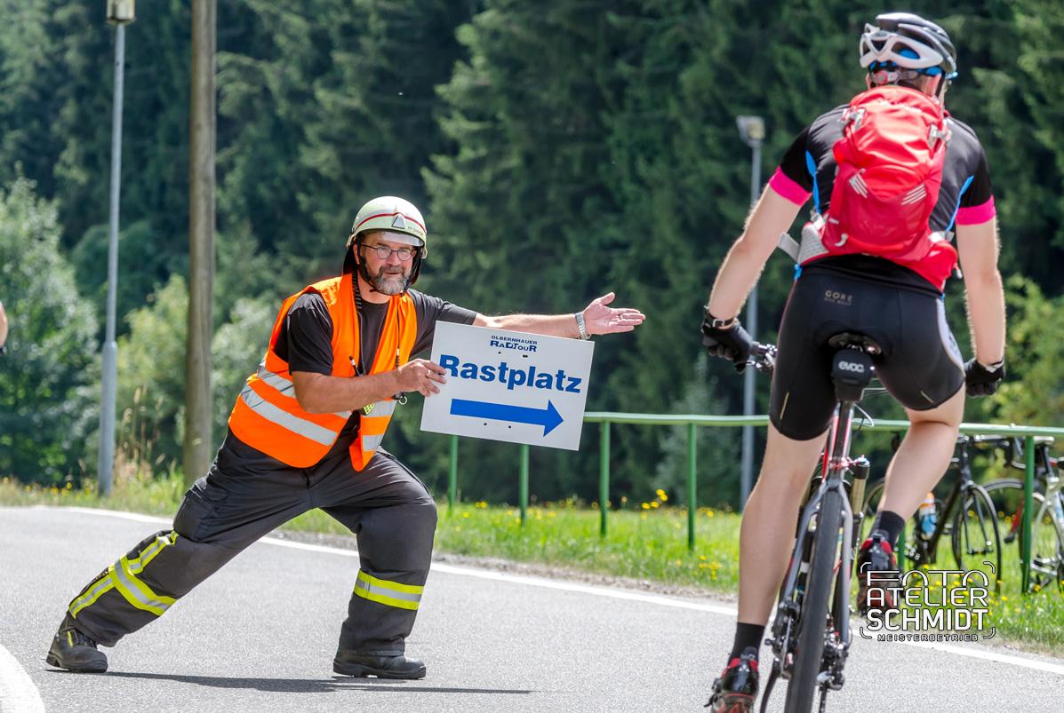 Feuerwehr bei der Olbernhauer Radtour