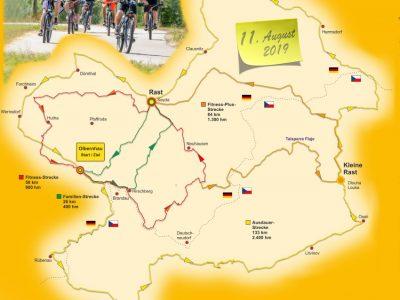 Strecken der 26. Olbernhauer Radtour